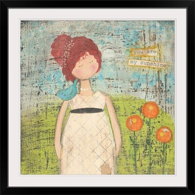 """'You Are My Sunshine' by Cassandra Cushman Print Format: Black Frame, Size: 17"""" H x 17"""" W x 1"""" D 2330407_15_12x12_none"""