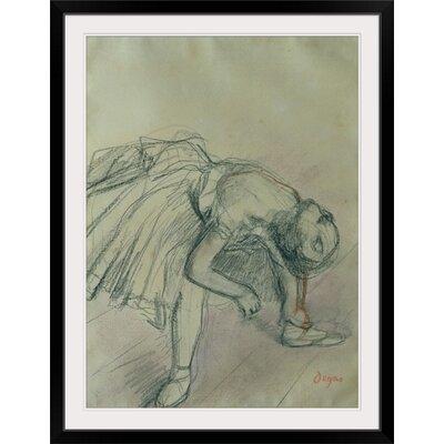 "'Dancer Fixing Her Slipper, c.1865' by Edgar Degas Painting Print Format: Black Frame, Size: 41"" H x 31"" W x 1"" D 2305464_15_26x36_none"