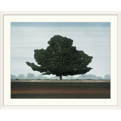 """'Majestic' by Robert Charon Painting Print Format: White Frame, Size: 28"""" H x 35"""" W x 1"""" D 2348184_21_30x23_none"""