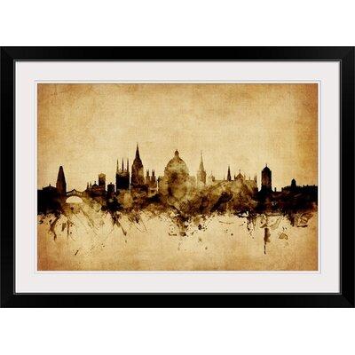 "'Oxford England Skyline' by Michael Tompsett Graphic Art Print Format: Black Frame, Size: 17"" H x 23"" W x 1"" D 2395029_15_18x12_none"