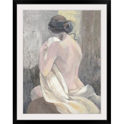 "'After the Bath II' Albena Hristova Painting Print Format: Black Frame, Size: 21"" H x 17"" W x 1"" D 2433946_15_12x16_none"