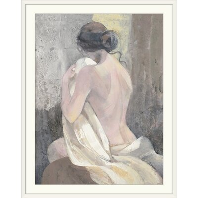 "'After the Bath II' Albena Hristova Painting Print Format: White Frame, Size: 21"" H x 17"" W x 1"" D 2433946_21_12x16_none"
