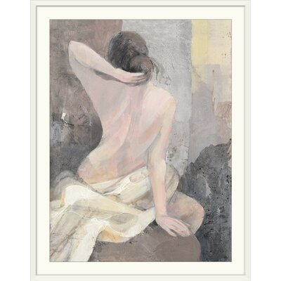 "'After the Bath I' Albena Hristova Painting Print Format: White Frame, Size: 21"" H x 17"" W x 1"" D 2433945_21_12x16_none"