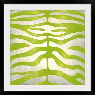 "'Vibrant Zebra III' Chariklia Zarris Graphic Art Print Format: Black Frame, Size: 21"" H x 21"" W x 1"" D 2445555_15_16x16_none"