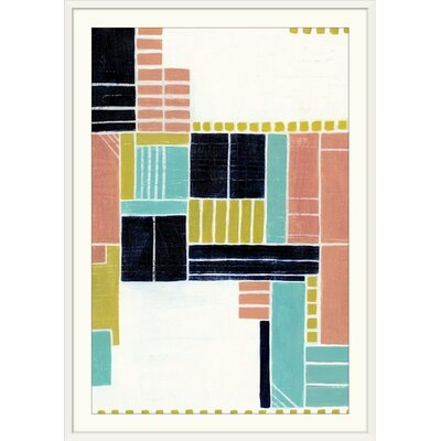 """'Blithe Puzzle II' Grace Popp Painting Print Size: 23"""" H x 17"""" W x 1"""" D, Format: White Frame 2409888_21_12x18_none"""