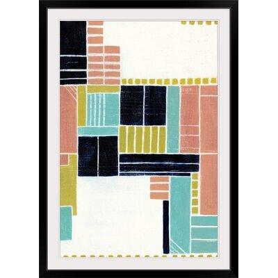 "'Blithe Puzzle II' Grace Popp Painting Print Size: 29"" H x 21"" W x 1"" D, Format: Black Frame 2409888_15_16x24_none"
