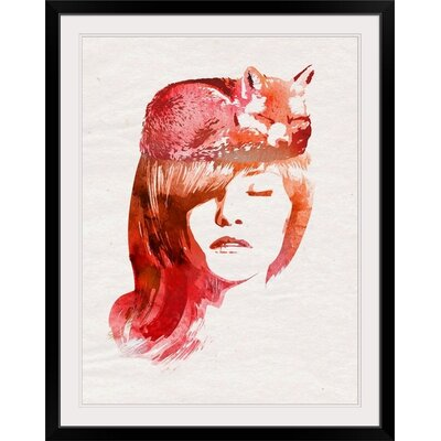 "'Perfect Silence' Robert Farkas Graphic Art Print Format: Black Frame, Size: 24"" H x 20"" W x 1"" D 2326115_15_12x16_none"