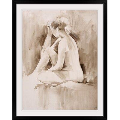 "'Figure Study II' Sydney Edmunds Painting Print Format: Black Frame, Size: 21"" H x 17"" W x 1"" D 2218830_15_12x16_none"