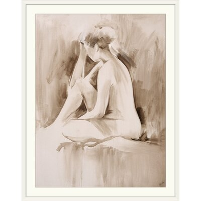 "'Figure Study II' Sydney Edmunds Painting Print Format: White Frame, Size: 21"" H x 17"" W x 1"" D 2218830_21_12x16_none"