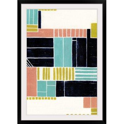 "'Blithe Puzzle I' Grace Popp Painting Print Size: 23"" H x 17"" W x 1"" D, Format: Black Frame 2409886_15_12x18_none"