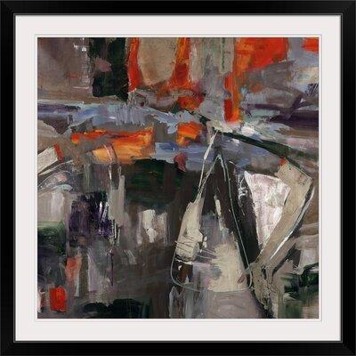 "'New Blue Scarf' Jodi Maas Painting Print Format: Black Frame, Size: 17"" H x 17"" W x 1"" D 2159855_15_12x12_none"