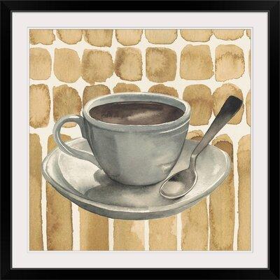 """'Cafe au Lait II' Grace Popp Painting Print Format: Black Frame, Size: 17"""" H x 17"""" W x 1"""" D 2352952_15_12x12_none"""