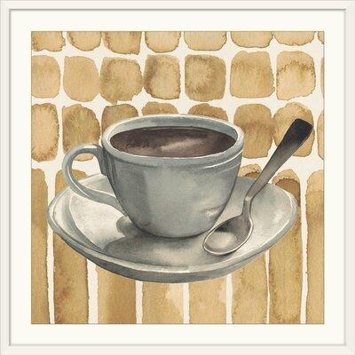 "'Cafe au Lait II' Grace Popp Painting Print Format: White Frame, Size: 17"" H x 17"" W x 1"" D 2352952_21_12x12_none"