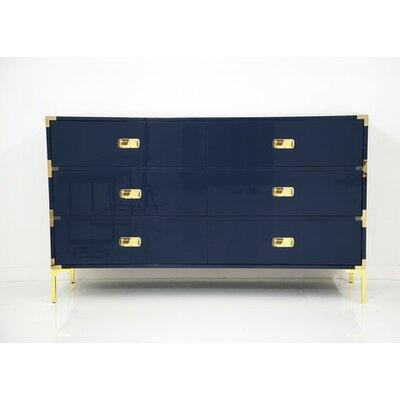 Jet Setter 6 Drawer Dresser Color: Navy