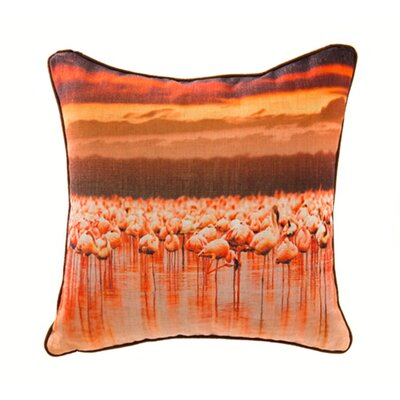 Flamingo Linen Throw Pillow