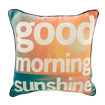 Good Morning Sunshine Linen Throw Pillow