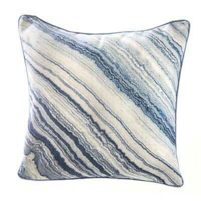 Marble Linen Throw Pillow Color: Grey