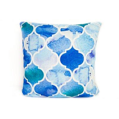 Marrakesh Linen Throw Pillow Color: Blue