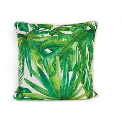 Tropical Linen Throw Pillow