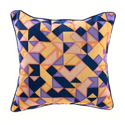 Triangle Linen Throw Pillow Color: Purple/Orange