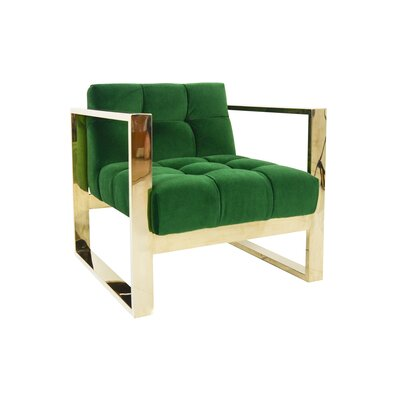 Kube Armchair Color: Emerald