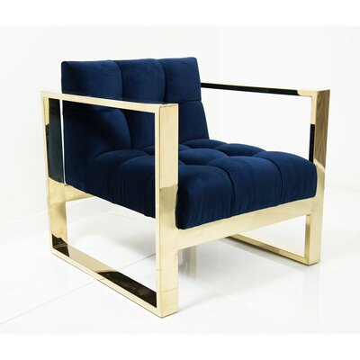 Kube Arm Chair Color: Navy