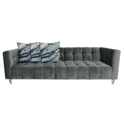 Delano Chesterfield Sofa Upholstery: Charcoal