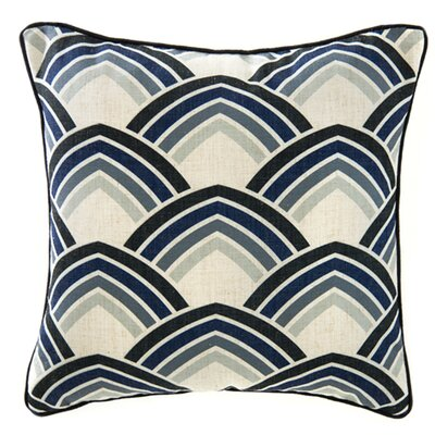 Deco Lines Linen Throw Pillow