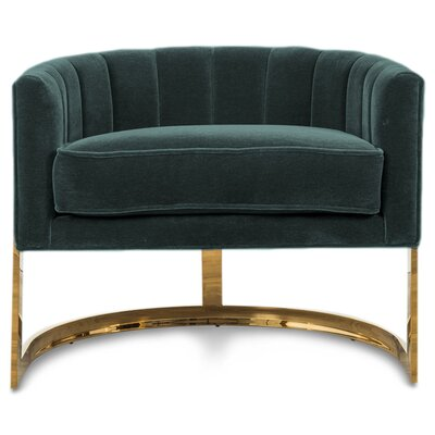 Ibiza Armchair Upholstery: Hunter Green Velvet