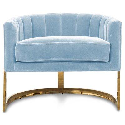 Ibiza Armchair Upholstery: Capri Blue Velvet