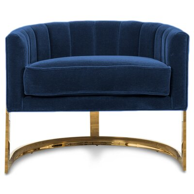 Ibiza Armchair Upholstery: Indigo Blue Velvet