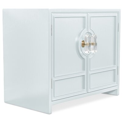 Cannes End Table with Storage Color: Capri Blue