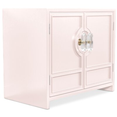 Cannes End Table with Storage Color: Blush Pink