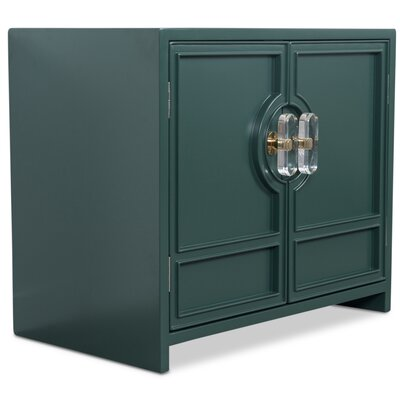 Cannes End Table with Storage Color: Hunter Green