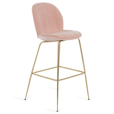 Amalfi 27 Bar Stool Color: Blush Pink