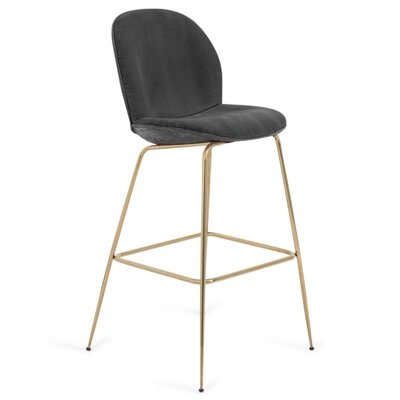Amalfi 27 Bar Stool Color: Dark Gray