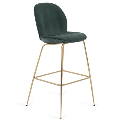 Amalfi 27 Bar Stool Color: Hunter Green