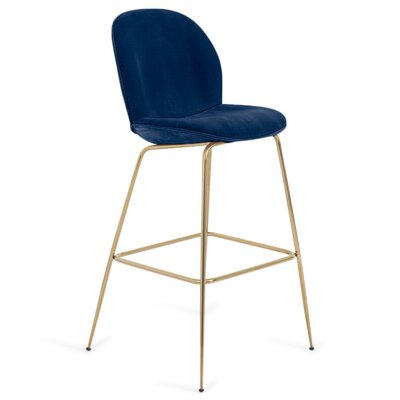 Amalfi 30 Bar Stool Color: Indigo Blue