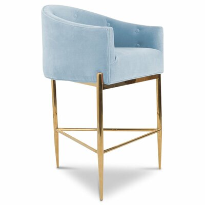 Art Deco 30 Bar Stool Upholstery: Capri Blue