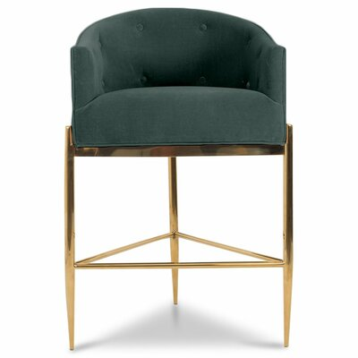 Art Deco 30 Bar Stool Upholstery: Hunter Green