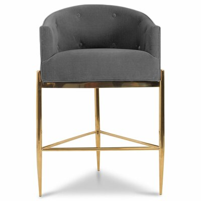 Art Deco 30 Bar Stool Upholstery: Dark Gray