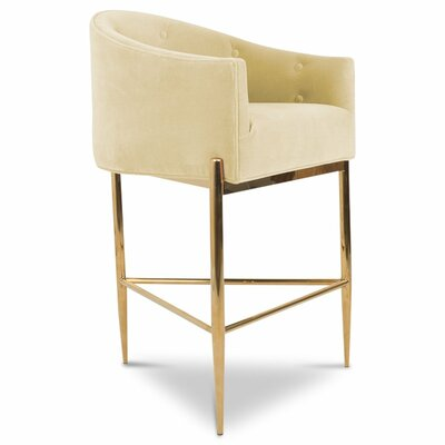 Art Deco 30 Bar Stool Upholstery: Hollandaise