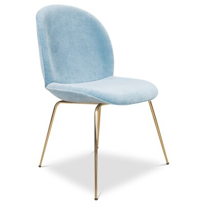 Amalfi Upholstered Dining Chair Upholstery: Capri Blue
