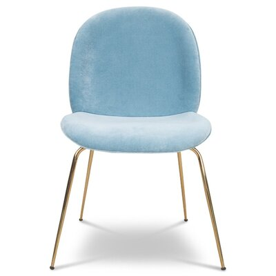 Amalfi Upholstered Dining Chair Upholstery Color: Capri Blue