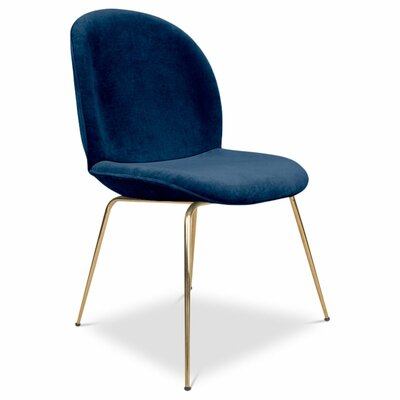Amalfi Upholstered Dining Chair Upholstery: Indigo Blue
