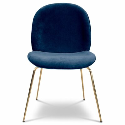 Amalfi Upholstered Dining Chair Upholstery Color: Indigo Blue