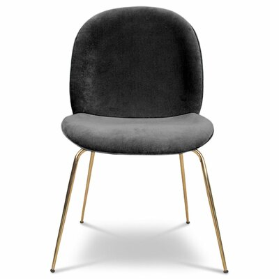 Amalfi Upholstered Dining Chair Upholstery Color: Dark Gray