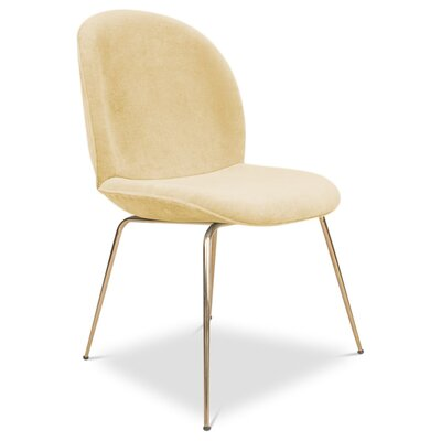 Amalfi Upholstered Dining Chair Upholstery: Hollandaise