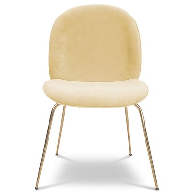 Amalfi Upholstered Dining Chair Upholstery Color: Hollandaise