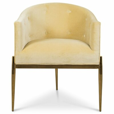 Art Deco Upholstered Dining Chair Upholstery: Hollandaise